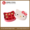 chocolate paper box compartments kitty head shaped