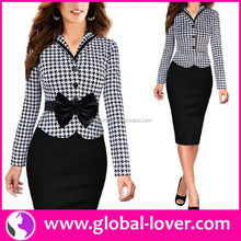 Free Shipping Office Dress 2016 China Long Sleeve New Office Dress
