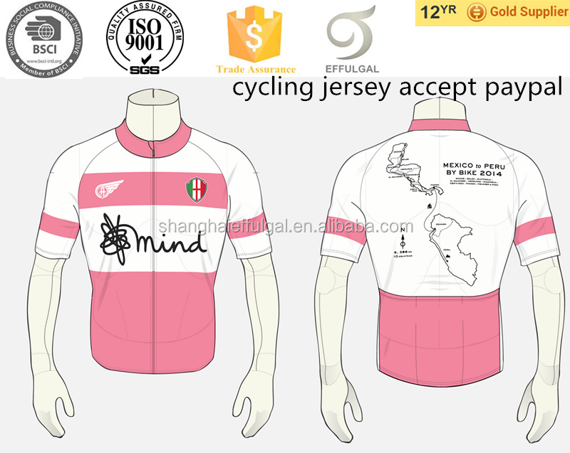 custom 2015 Sublimated Breathable UV Protection cycling jersey paypal