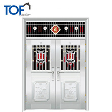 Home Security stainless steel grill front door design new design iron steel gate