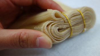 Best seller hand tied of 100% human hair weft with bottom price and excellent quality