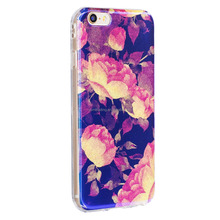 [Youngmeet] New arrival IMD blue lights flower series Phone Case For Iphone 5 5S SE