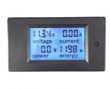 New DC 6.5-100V 100A LCD display Voltage + Current + Power + Energy multifunction meter with current shunt