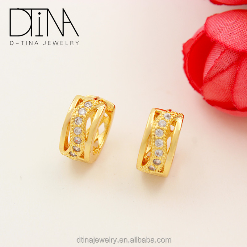 Austria Crystal 18K gold Plated Earrings for Women healthy Anti Allergies