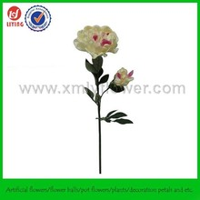 "28"" Real Touch Artificial Single Flower,PU Wholesale Artificial Flower,Real Touch Peony Branch"