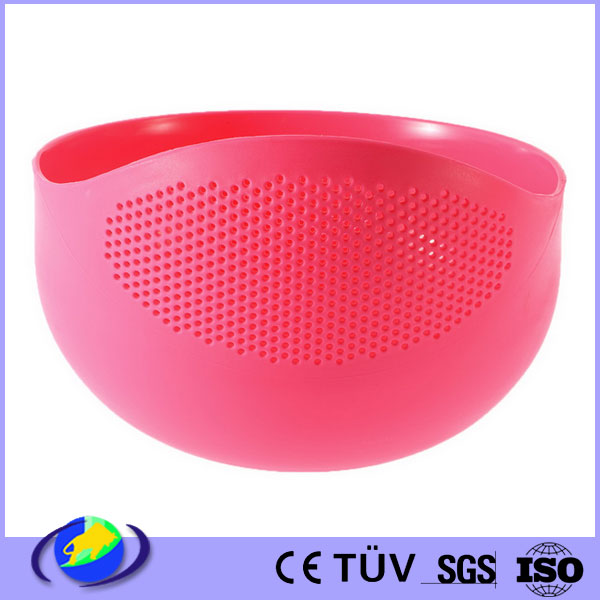 custom made plastic food kitchen sieve basket injection molding container