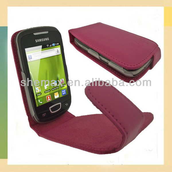 PU Leather Case for Samsung Galaxy Mini S5570 Mobile Cover