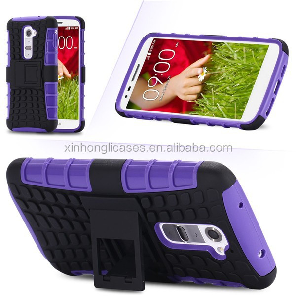 High Quality Luxury Dual Color Silicon Plastic Heavy Duty Armor Case For LG G2 Optimus D801 D802 LS980 Hard Phone Back Cover Bag