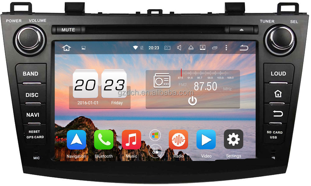 android 6.0 <strong>car</strong> dvd player for <strong>MAZDA</strong> <strong>3</strong> 2009-2012 1024*600 octa core 2G+32G support 4G WS-6012