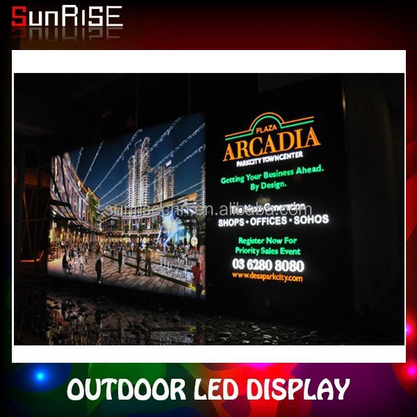 Sunrise P2 Full Color Outdoor Led Display Screen P10 Outdoor Single Color Led Display Module,Outdoor Led Display Red Green White