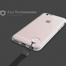 2016 New Arrival style generation clear TPU Silicone iface case cover with Hand Strap for iphone 6 6s plus