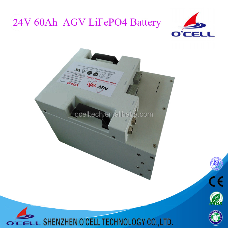 Lithium iron Phosphate 24V 60Ah lifepo4 Battery for AGV and electric logistics car