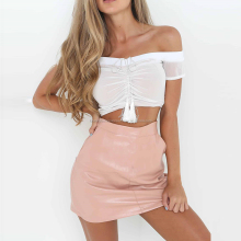 Wholesale Cheap Shoulder Off Women Crop Top
