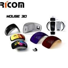 quality assurance wireless mouse ,normal size computer mouse , Shining Finishing Foldable mouse