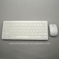 2.4GHz wireless keyboard mouse combo,wireless keyboard and mouse for ipad mini ipad 4 samsung table pc white