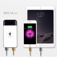 New Arrival 10000mAh Slim Charge Power Bank wireless charger, Portable Qi Wireless wity type c usb