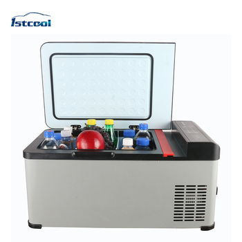 Hard Metal Portable Refrigerator Display Cooler for Beach
