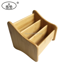 China factory supply bamboo decorative cosmetic storage box organizer