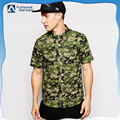 Men's manufacturer short sleeve digital camo dress shirt