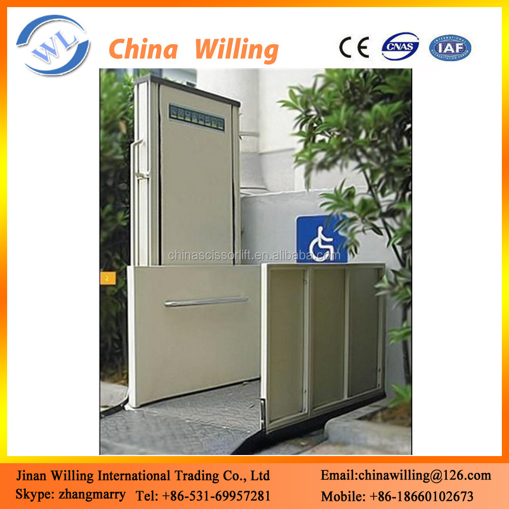 Hydraulic Lift Wheelchair Elevator Electric Vehicles For Disabled People