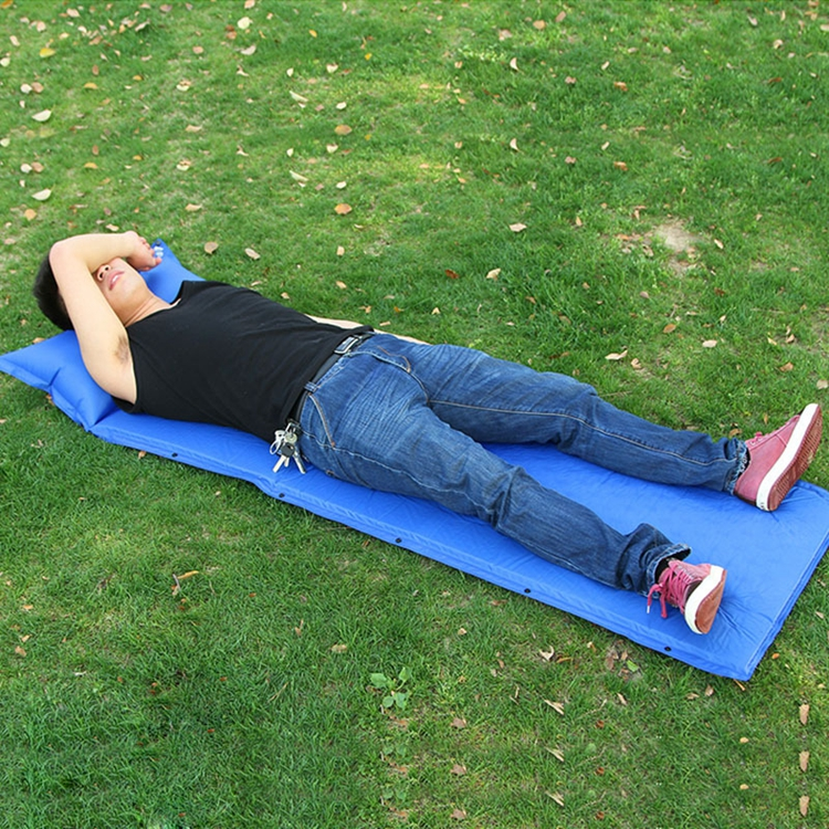 Dampproof Lightweight Sleeping Pad Camping Self-Inflating With Pillow