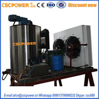SF 08 seawater fishery used snow flake ice machine 800KG/DAY