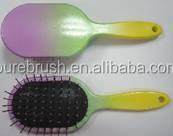 Spray panit Rainbow color Oval air Cushion Hair Brush