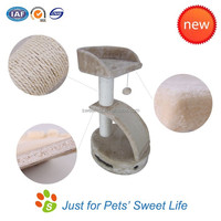 Sweet Factory wholesale outdoor cat furniture & cat tree with scratcher toy