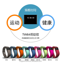 Silicone bluetooth 4.0 android tw64 smart band watch with sleeping tracker