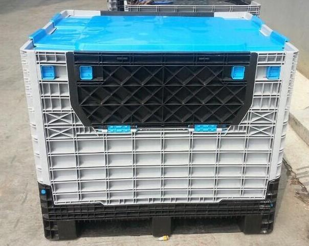 1200x1000x975mm large plastic storage containers folding plastic box pallet