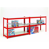 high quality 4 layers stainless steel kitchen wall shelf, mini mart shelving system, metal cube shelving