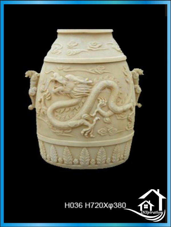 Outdoor large chinese garden pots