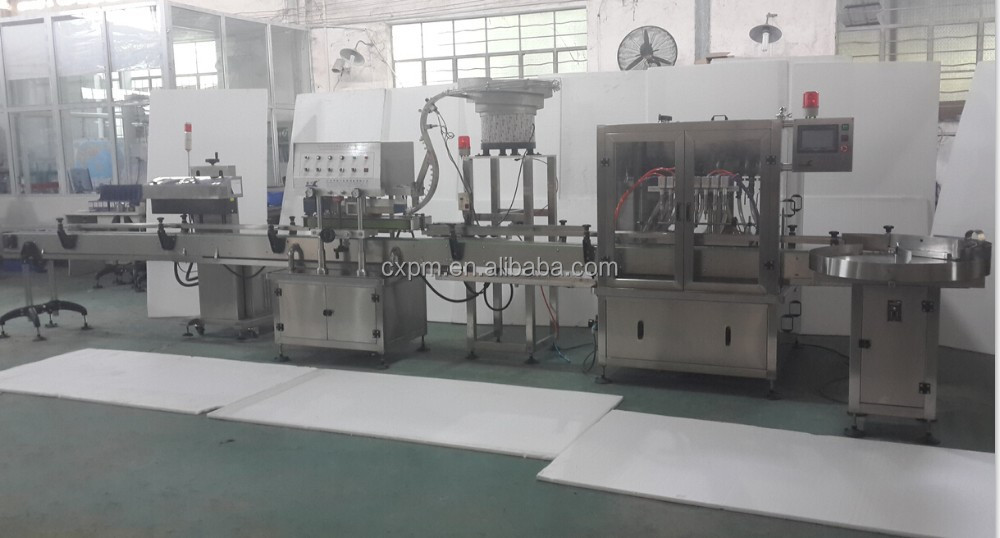 Automatic good quality linear filling capping labeling machine packing line for bottle mayonnaise