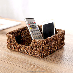 Wholesale China factory design natural hand-woven straw storage basket for home & Kitchen