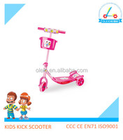 New model product mini 3 wheel pedal kids scooter iron frame with basketball