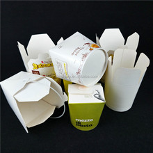 Duoble PE coated paper noodle box round of 16/22/26/32oz food box packaging