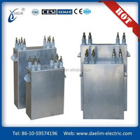 High capacity water cooled dc filter capacitor