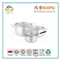 Good price chinese hot sale stainless steel large cooking pots and pans sets