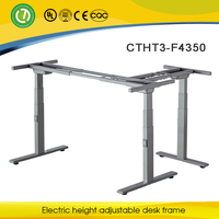 L Feet ergonomic height adjustable desk frame Hawaii modern office furniture with electric lifting columns