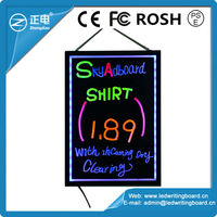 alibaba express wholesale fluorescent handwriting led advertising light board approved UPS drop test