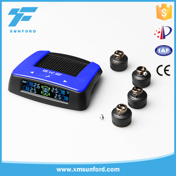 Cost effective car LCD internal and external sensor solar energy tpms