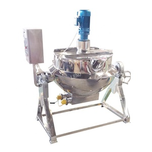 Sanitary mixer equipment steam heating vacuum cooking kettle
