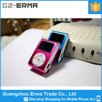 Wholesale Metal Clip Mini MP3 Player With Screen, IT Card mp3