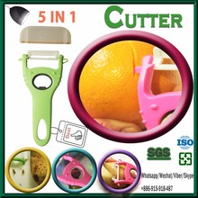 Hot sale the best 5 in 1 kitchen ware stainless steel potato peeler