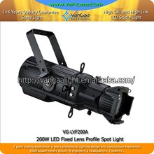 200W Leko Light Ellipsoidal LED Profile Spotlight Studio Lighting With DMX512