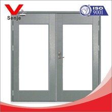 fireproof tempered glass door, commercial double glass doors,fireproof door