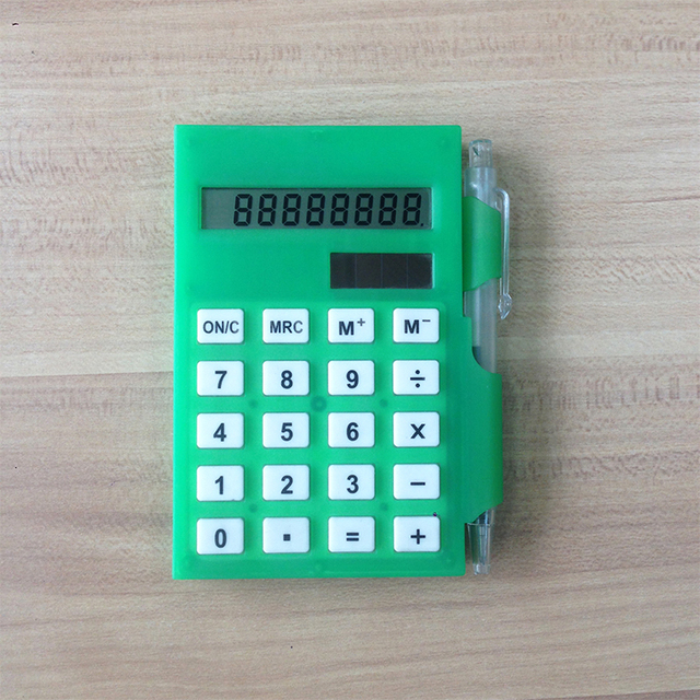 8 Digit Calculator with Notepaper and ball pen hot selling for promotion gifts