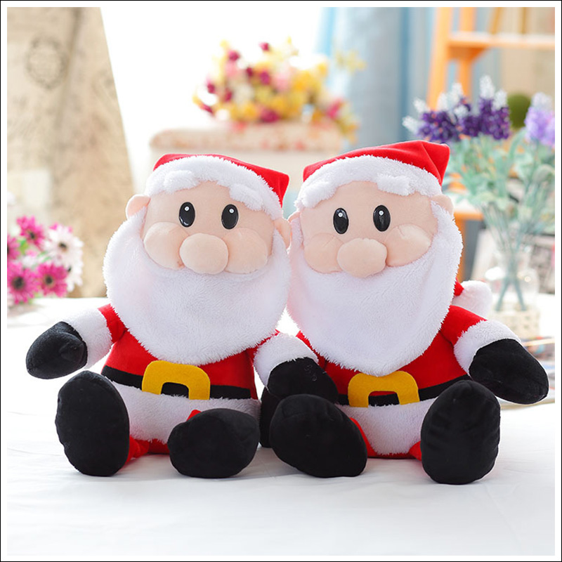 Wholesale 2017 christmas decorations toy santa claus plush toy