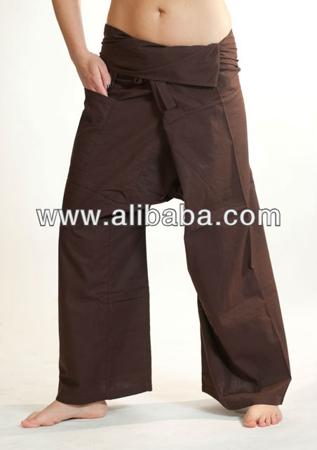 100% cotton premium thai fisherman pants - Brown