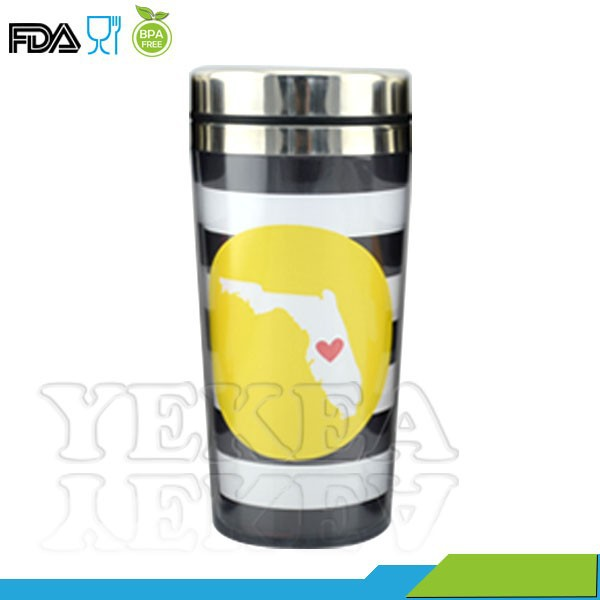 With compeititve price ! 16 oz stainless steel travel mug inserts , double wall stainless steel travel mug , made in china